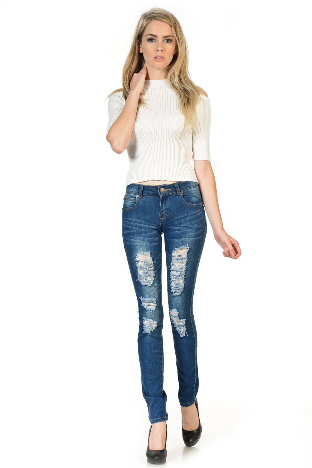 Sweet Look Premium Edition Women's Jeans - Push Up - Style WY5026E-R