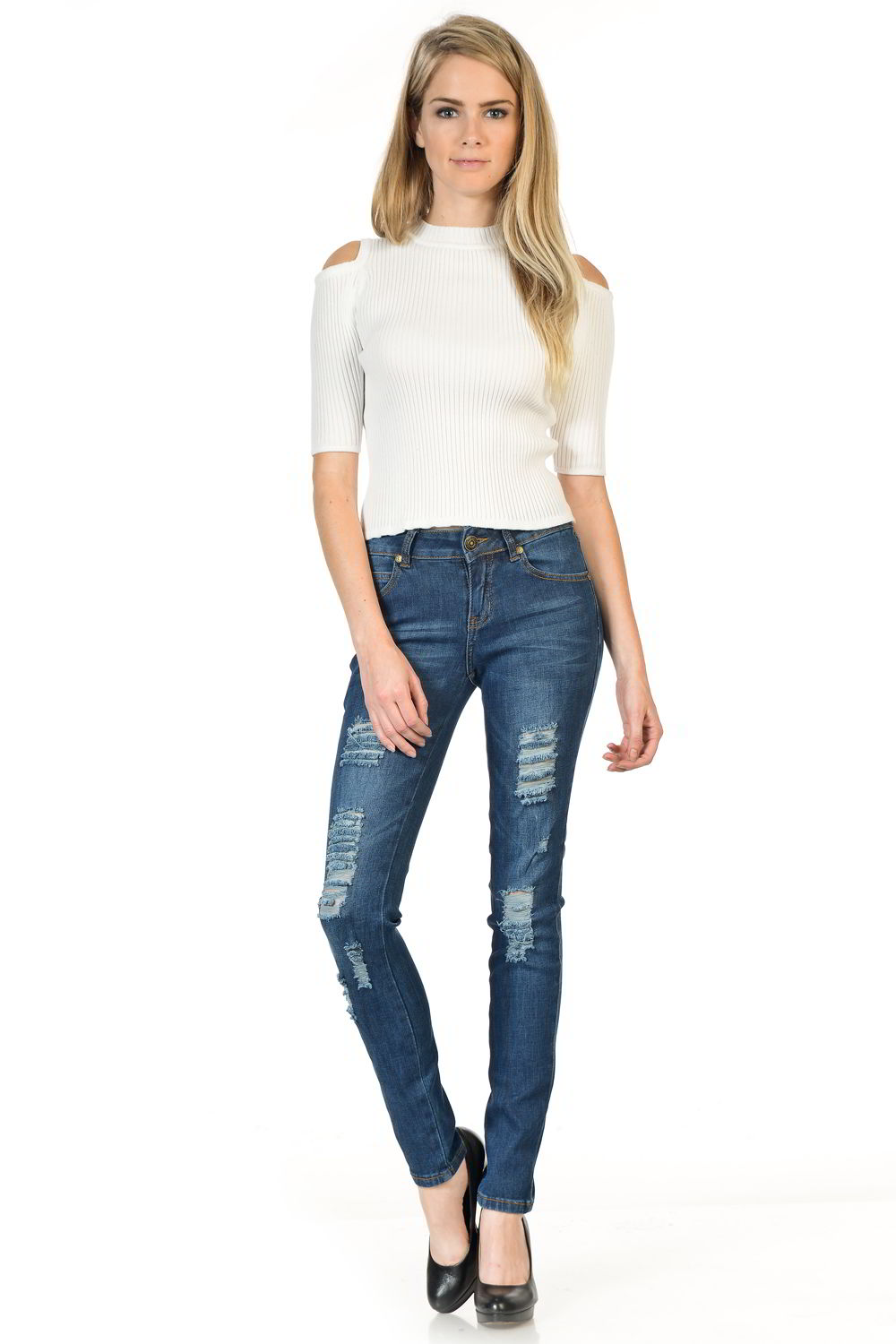Sweet Look Premium Edition Women's Jeans - Push Up - Style WY5028D-R