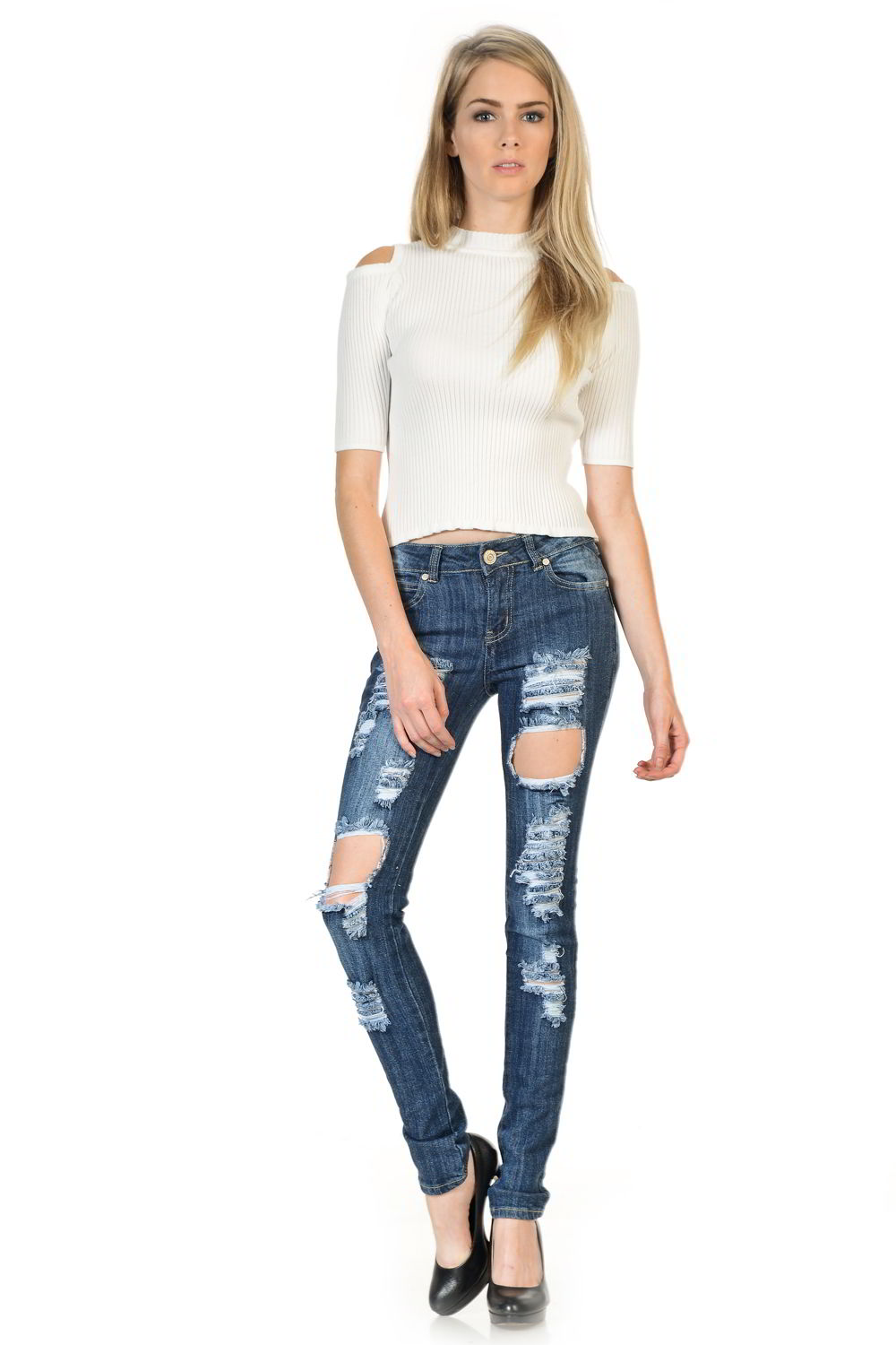 Sweet Look Premium Edition Women's Jeans - Push Up - Style WY5033A-R