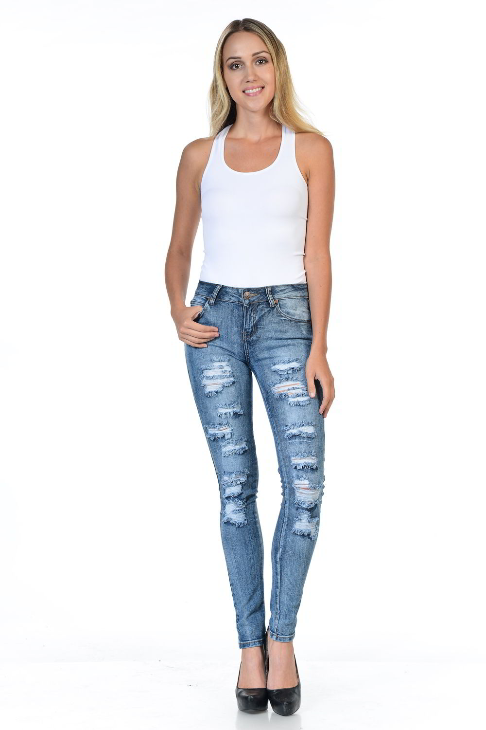 Sweet Look Premium Edition Women's Jeans - Push Up - Style WY5034A-R