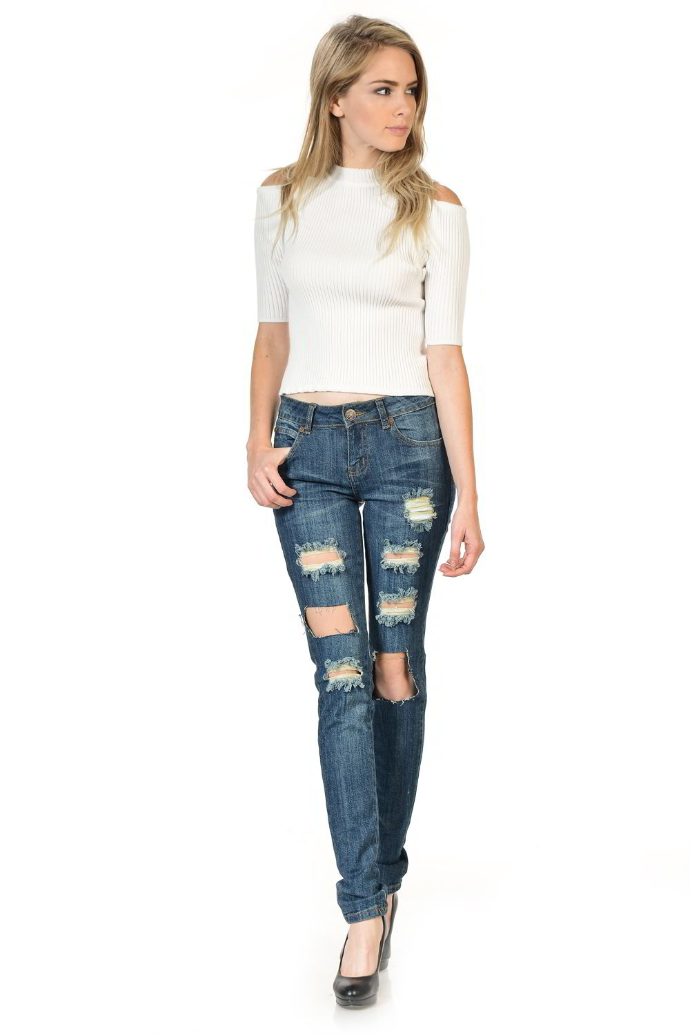 Sweet Look Premium Edition Women's Jeans - Push Up - Style WY5034C-R