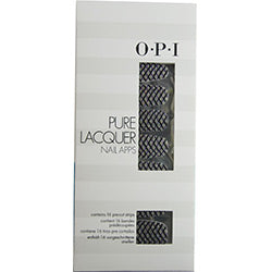 Opi Pure Lacquer Nail Apps--zig Zag Sparkle--16 Pre-cut Strips By Opi