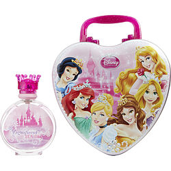 Disney Princess By Disney Edt Spray 3.4 Oz & Metal Lunch Box