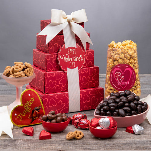 Valentines Day Gourmet Gift Tower