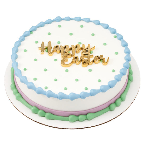 Easter Gold Script Cake Topper Layon Decoration