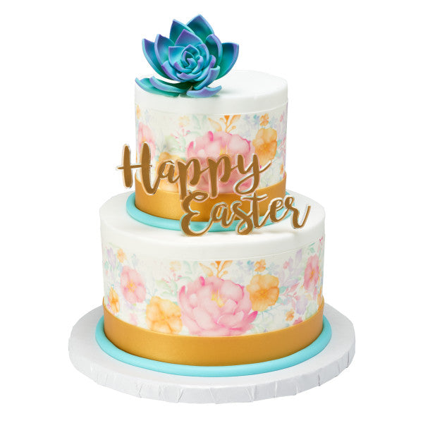 Easter Gemstone Layon Cake Topper Decoration Green Purple or Gold