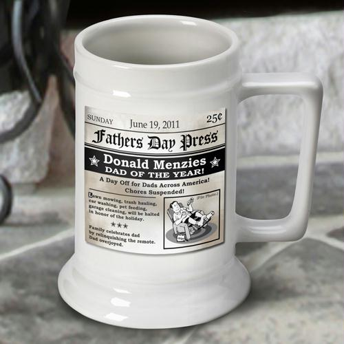 Father's Day Headline Stein
