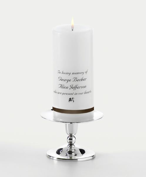 Personalized Wedding Memorial Candle Only