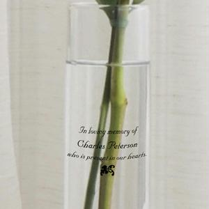 Personalized  Wedding Memorial Bud Vase