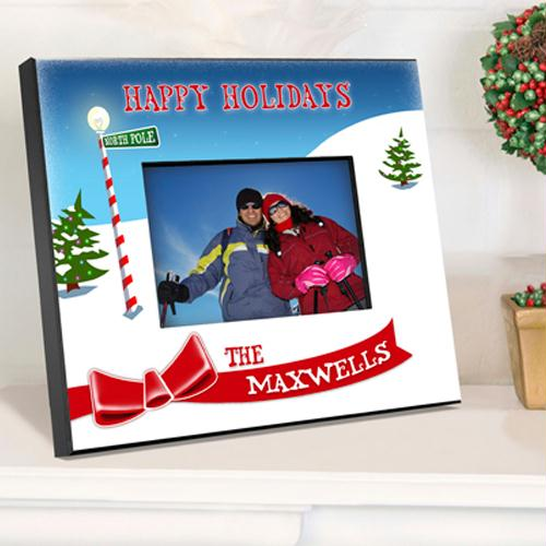Personalized North Pole Christmas Picture Frame