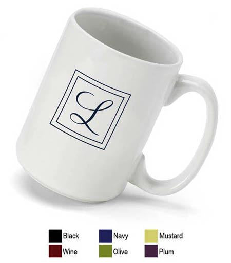 Plum Monogrammed Coffee Mug