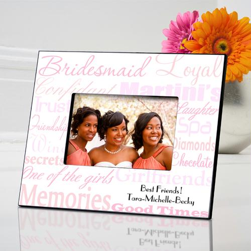 Personalized Shades of Pink on White Picture Frame