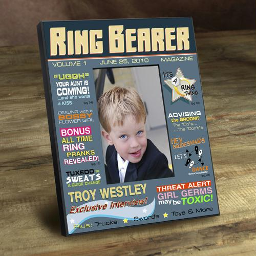 Personalized Ring Bearer Magazine Frame