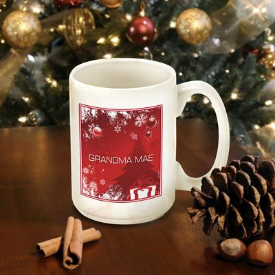 Personalized Winter Holiday Coffee Mug
