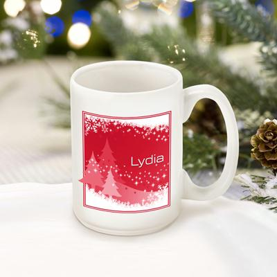 Red Snowscapes Coffee Mug