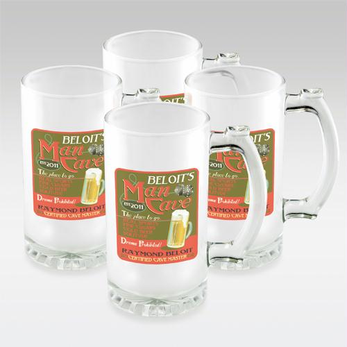 Bulldog Set of 4 Frosted Sports Mugs