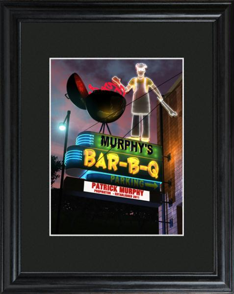 Personalized Marquee BBQ Framed Print