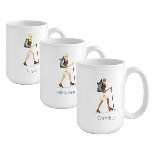 """Go-Girl"" Hiker Coffee Mug"