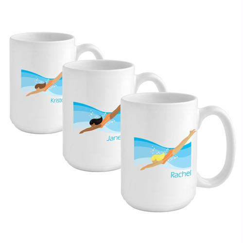 """Go-Girl"" Swimmer Coffee Mug"