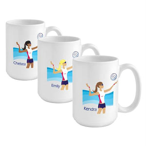 """Go-Girl"" Volleyball Coffee Mug"