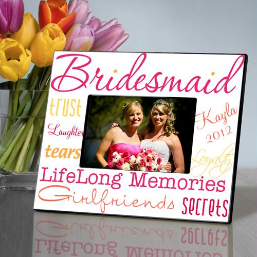 Personalized Honeysuckle Bridesmaid Picture Frame