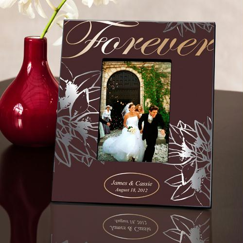 Personalized Silver and Gold Forever Picture Frame
