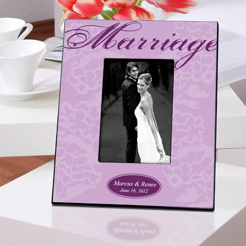 Personalized Lavender Marriage Picture Frame