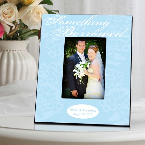 Personalized Something Blue Picture Frame