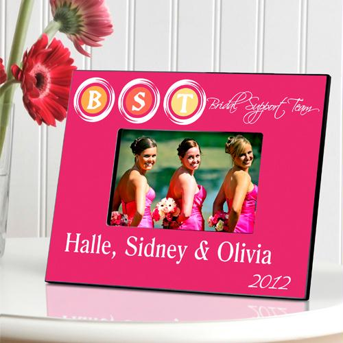 Personalized Pink Bridal Support Team Picture Frame