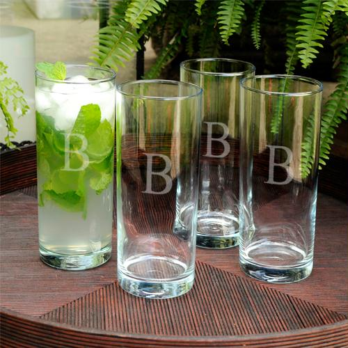 Personalized Portico Cooler Glass Set of 4