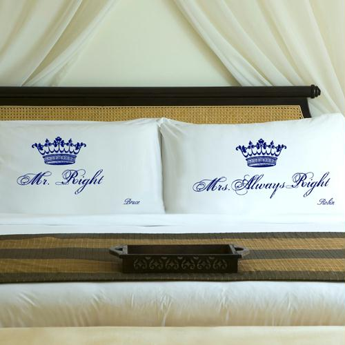 Personalized Regal Blue Royal Correctness Pillow Case Set