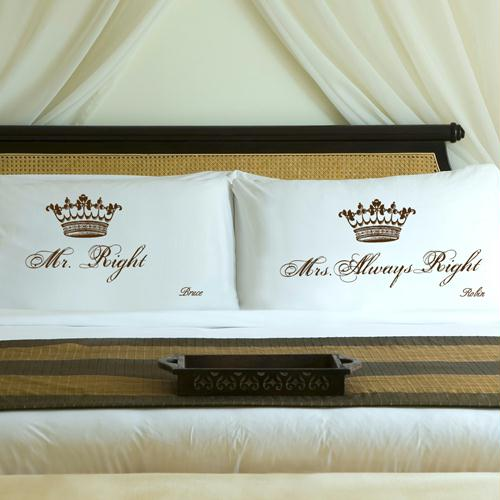 Personalized Truffle Brown Royal Correctness Pillow Case Set