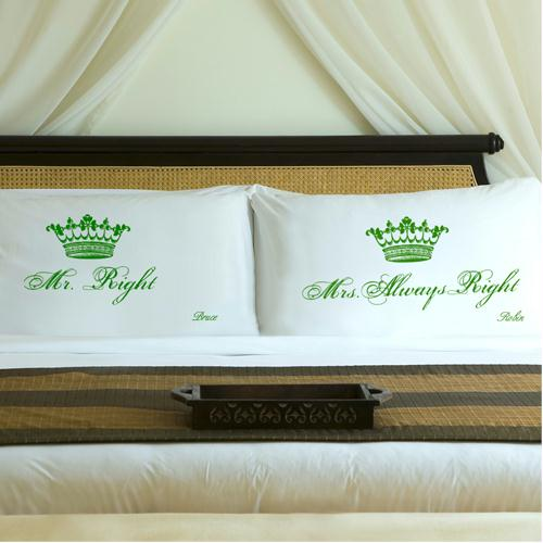 Personalized Garden Green Royal Correctness Pillow Case Set