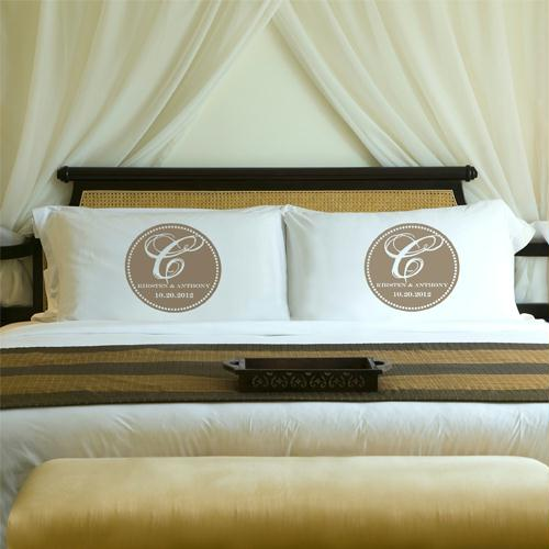 Personalized Bliss Couples Pillow Case Sets
