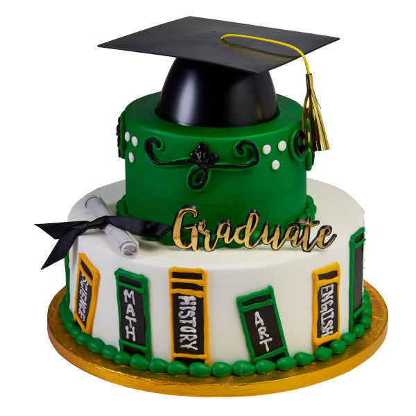 Graduation Cake Topper Decoration Set Mega Hat Graduate