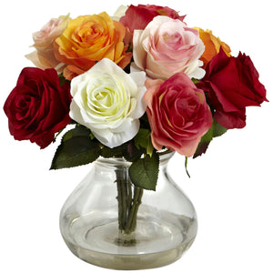 Rose Arrangement w-Vase
