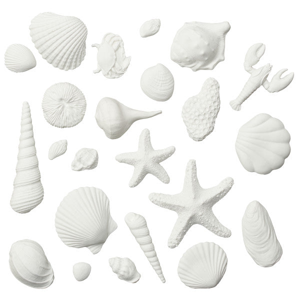 Wedding Cake Seashell Assortment Gum Paste Layon Decorations