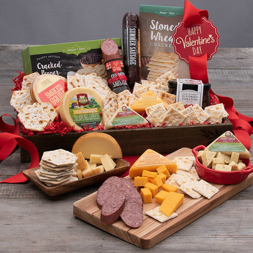 Valentines Day Gift Basket of Snacks