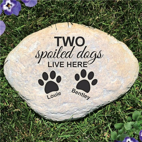 Personalized Pet Garden Stone Spoiled Dog