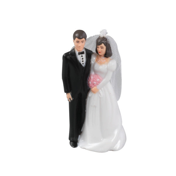 Traditional Bridal Couple Wedding Cake Topper Decoration
