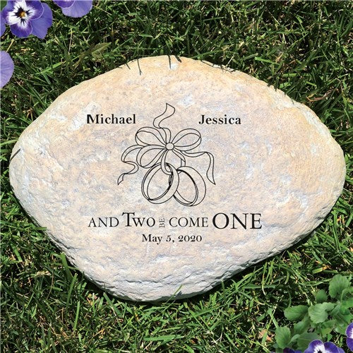 Personalized Wedding Garden Stone Couples Two Become One