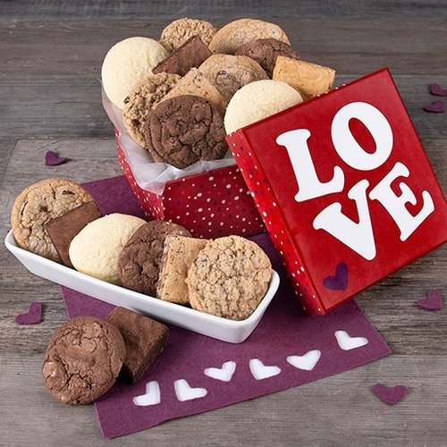Valentines Day Gift Box of Baked Goodies