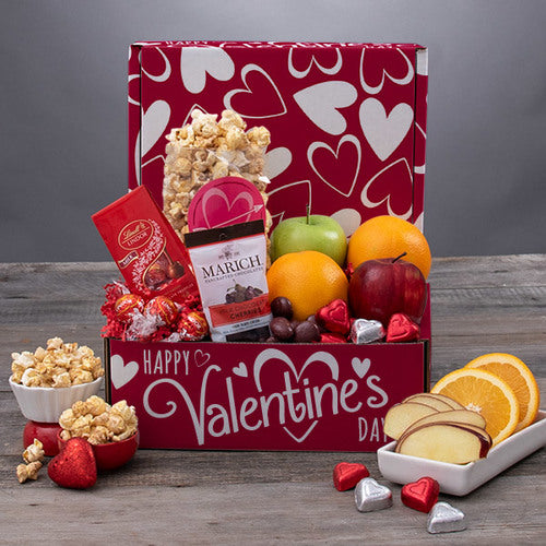 Valentines Day Fruit & Gourmet Gift Box