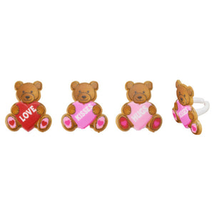 Valentines Day Teddy Bear Cupcake Rings