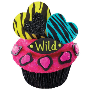 Valentines Day Wild About You Cupcake Rings