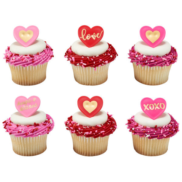 Valentines Day Love Heart Cupcake Rings