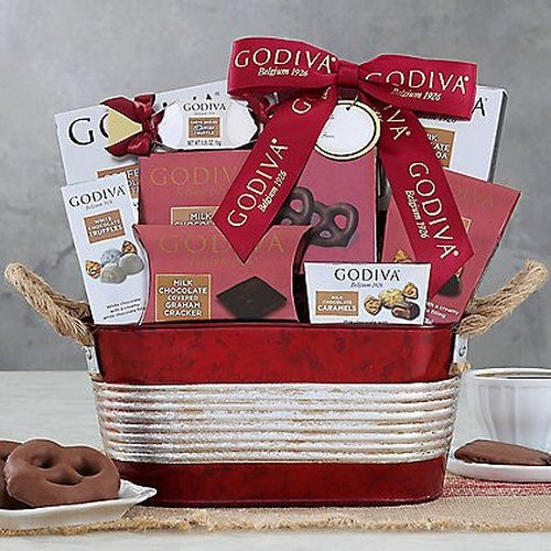Valentines Day Gift Basket Chocolate Gourmet Treasures