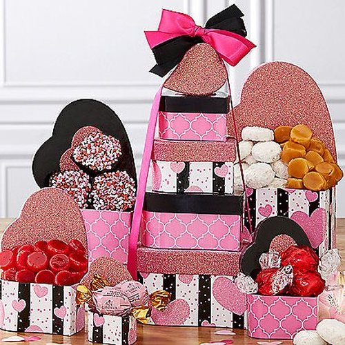 Valentines Day Gift Tower of Hearts