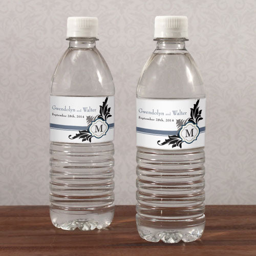 Lavish Monogram Water Bottle Label Berry (Pack of 1)