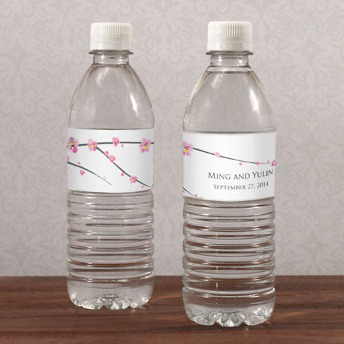 Cherry Blossom Water Bottle Label (Pack of 1)